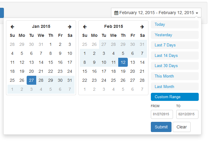 A date range picker for Bootstrap